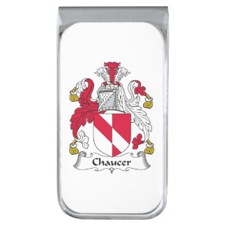 Escudo de la familia de Chaucer Clip Para Billetes Plateado