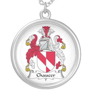 Escudo de la familia de Chaucer Colgante Redondo