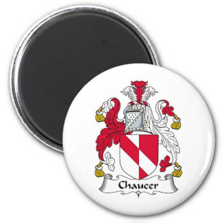 Escudo de la familia de Chaucer Imán Redondo 5 Cm