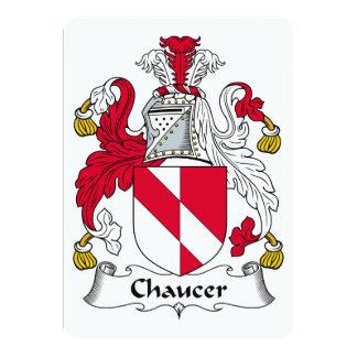 """Escudo de la familia de Chaucer Invitación 5"""" X 7"""""""