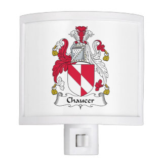 Escudo de la familia de Chaucer Lámparas De Noche