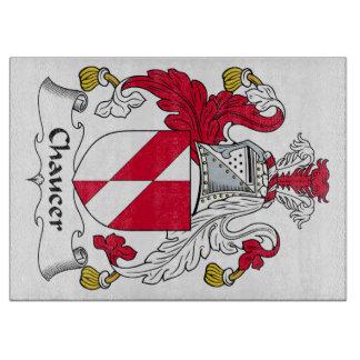 Escudo de la familia de Chaucer Tabla Para Cortar
