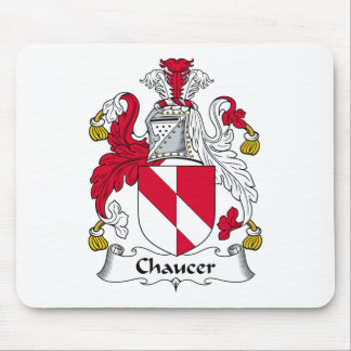 Escudo de la familia de Chaucer Tapetes De Ratón