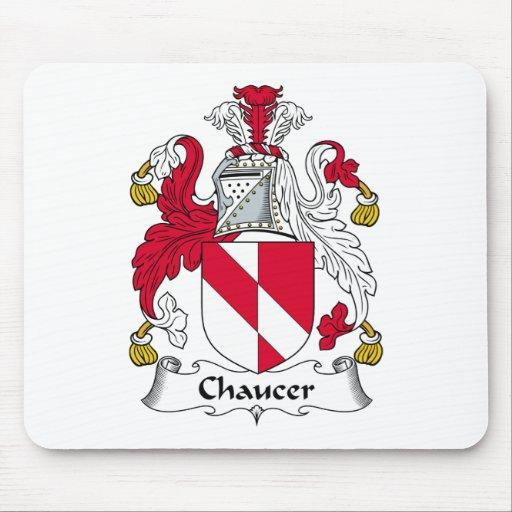 Escudo de la familia de Chaucer Alfombrillas De Raton