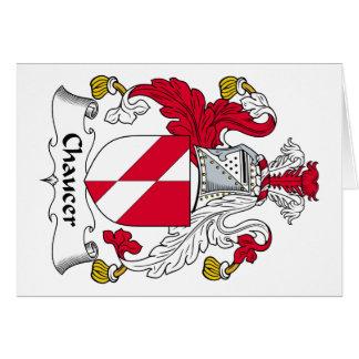 Escudo de la familia de Chaucer Tarjeta De Felicitación
