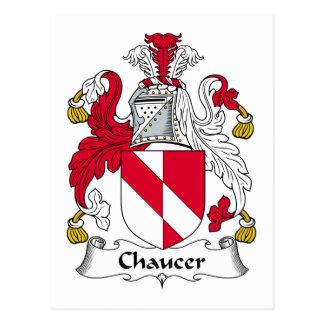 Escudo de la familia de Chaucer Postal