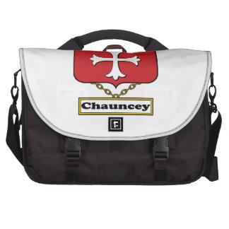Escudo de la familia de Chauncey Bolsas Para Portatil