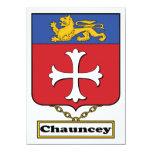 Escudo de la familia de Chauncey Invitación