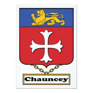 """Escudo de la familia de Chauncey Invitación 4.5"""" X 6.25"""""""