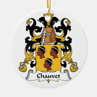 Escudo de la familia de Chauvet Adorno Redondo De Cerámica