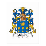 Escudo de la familia de Chauvin Tarjetas Postales