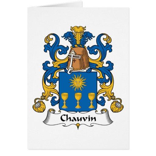 Escudo de la familia de Chauvin Tarjeton