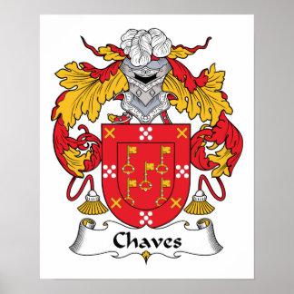 Escudo de la familia de Chaves Poster