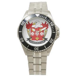 Escudo de la familia de Cheesebrough Relojes