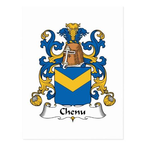 Escudo de la familia de Chenu Postal