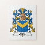 Escudo de la familia de Chenu Puzzle Con Fotos