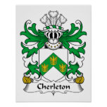 Escudo de la familia de Cherleton Impresiones
