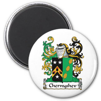 Escudo de la familia de Chernyshev Imán Redondo 5 Cm