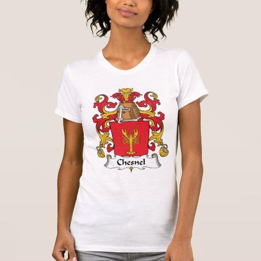 Escudo de la familia de Chesnel Camiseta