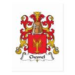 Escudo de la familia de Chesnel Tarjetas Postales