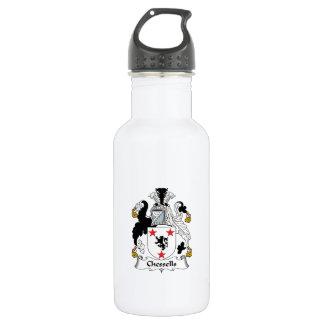 Escudo de la familia de Chessells Botella De Agua