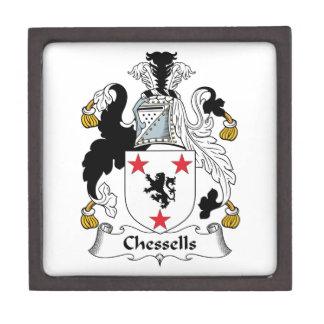 Escudo de la familia de Chessells Caja De Regalo De Calidad