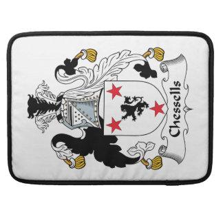 Escudo de la familia de Chessells Funda Macbook Pro