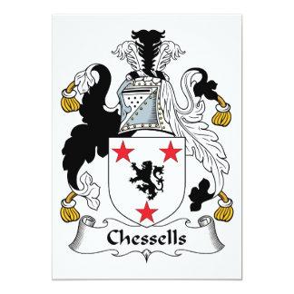 Escudo de la familia de Chessells Invitaciones Personalizada