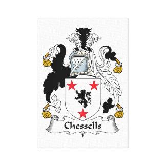 Escudo de la familia de Chessells Lona Estirada Galerías