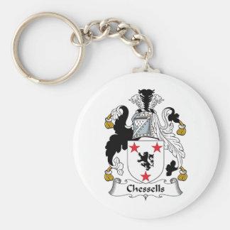 Escudo de la familia de Chessells Llaveros Personalizados