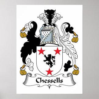 Escudo de la familia de Chessells Poster