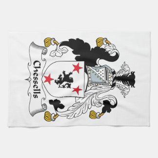 Escudo de la familia de Chessells Toalla