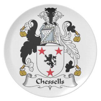 Escudo de la familia de Chessells Plato