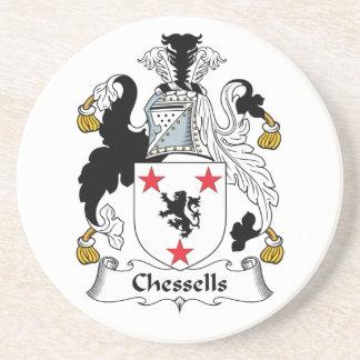 Escudo de la familia de Chessells Posavaso Para Bebida