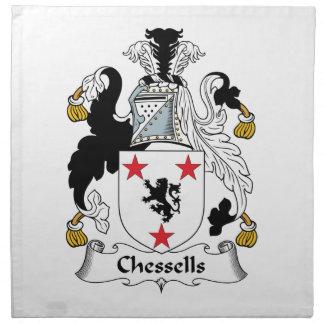 Escudo de la familia de Chessells Servilletas De Papel