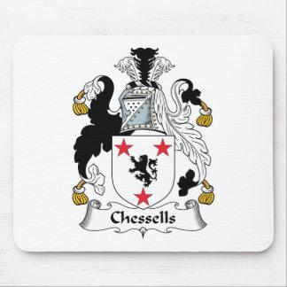 Escudo de la familia de Chessells Alfombrillas De Ratones