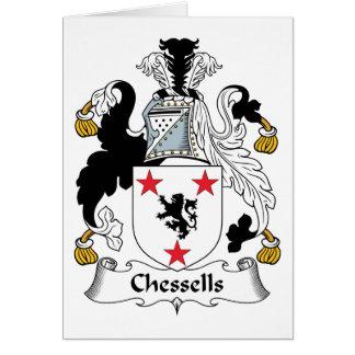 Escudo de la familia de Chessells Felicitación