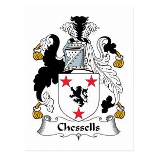 Escudo de la familia de Chessells Tarjetas Postales
