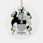 Escudo de la familia de Chester Adornos De Navidad