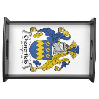 Escudo de la familia de Chesterfield Bandeja