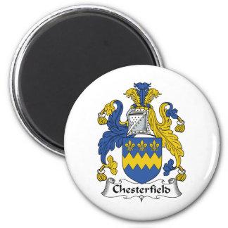 Escudo de la familia de Chesterfield Imán Redondo 5 Cm