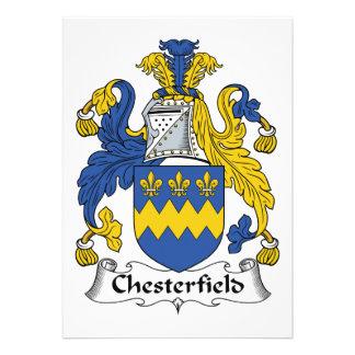 Escudo de la familia de Chesterfield Invitación Personalizada