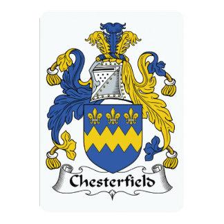 """Escudo de la familia de Chesterfield Invitación 5"""" X 7"""""""