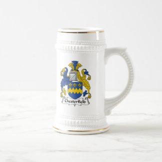 Escudo de la familia de Chesterfield Jarra De Cerveza
