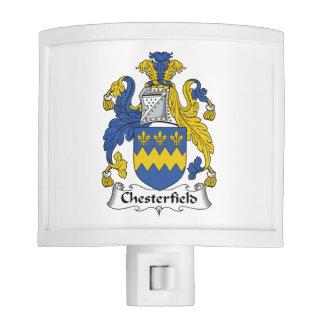 Escudo de la familia de Chesterfield Lámpara De Noche