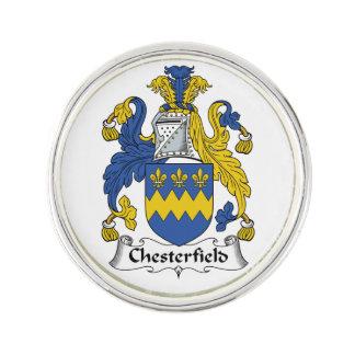 Escudo de la familia de Chesterfield Pin