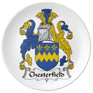 Escudo de la familia de Chesterfield Plato De Cerámica
