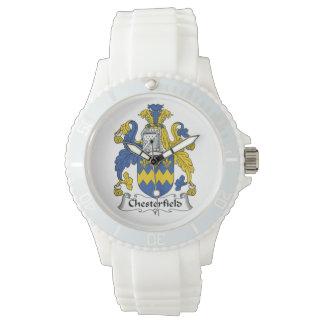 Escudo de la familia de Chesterfield Relojes