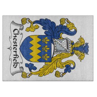 Escudo de la familia de Chesterfield Tabla De Cortar