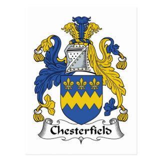 Escudo de la familia de Chesterfield Tarjetas Postales